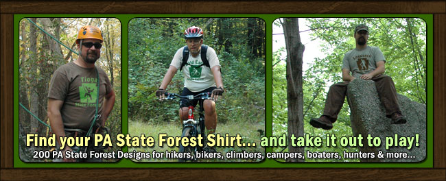 Find Your PA State Forest Shirt and take it out to play!