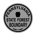 PA Pennsylvania State Forest Boundary - t-shirts and other apparel